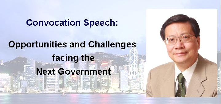Challenges and Opportunities facing the Next Government